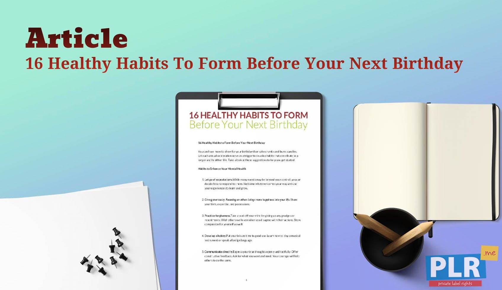 article on good habits