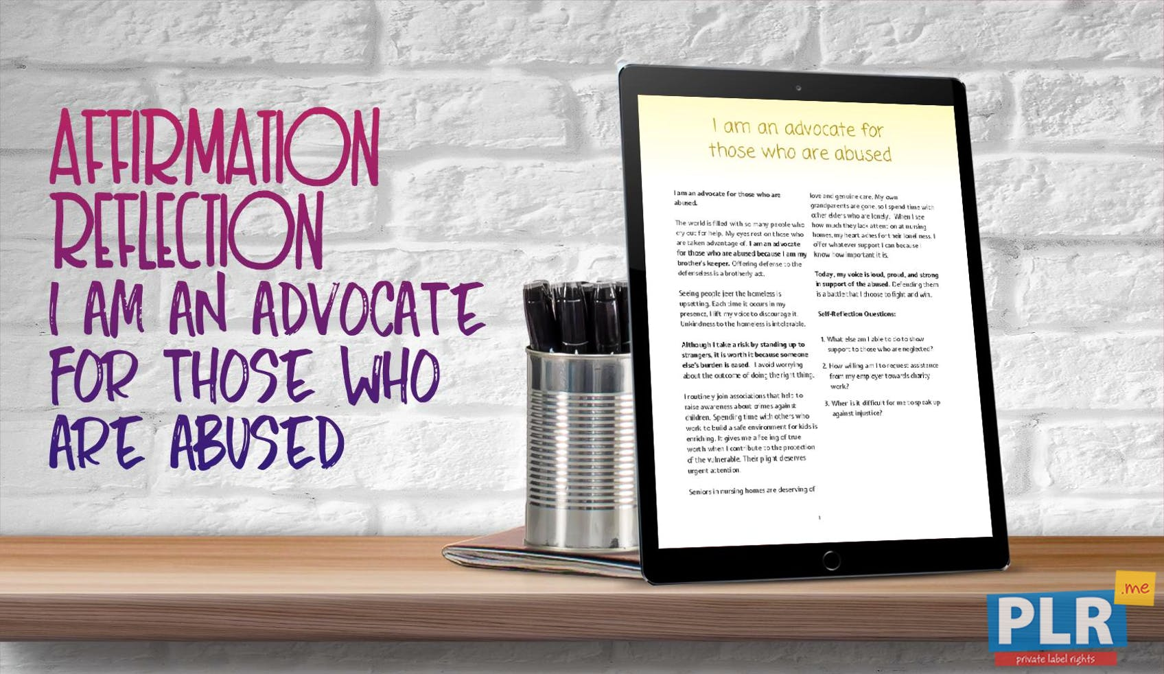 I Am An Advocate For Those Who Are Abused