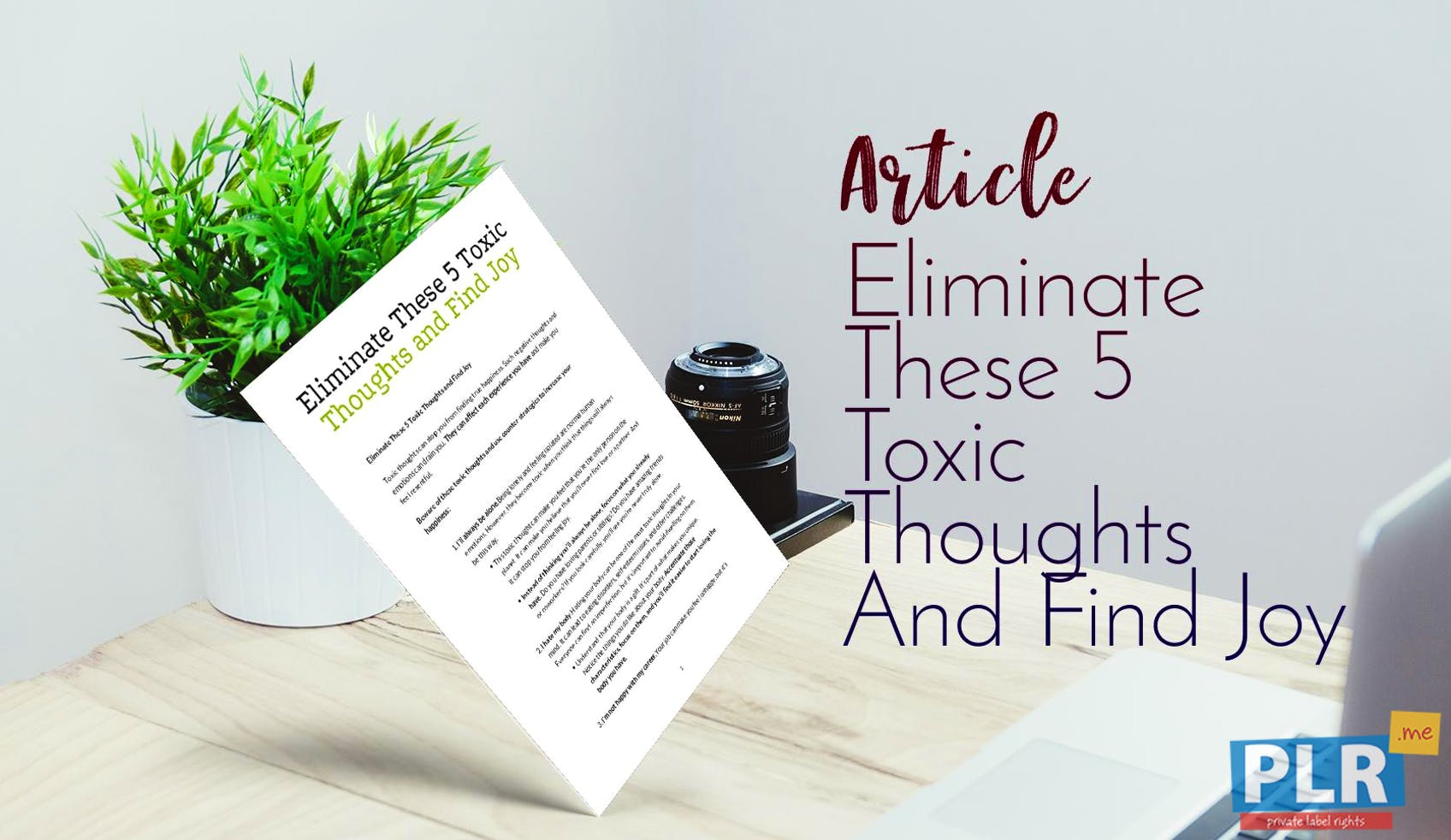 Eliminate These 5 Toxic Thoughts And Find Joy