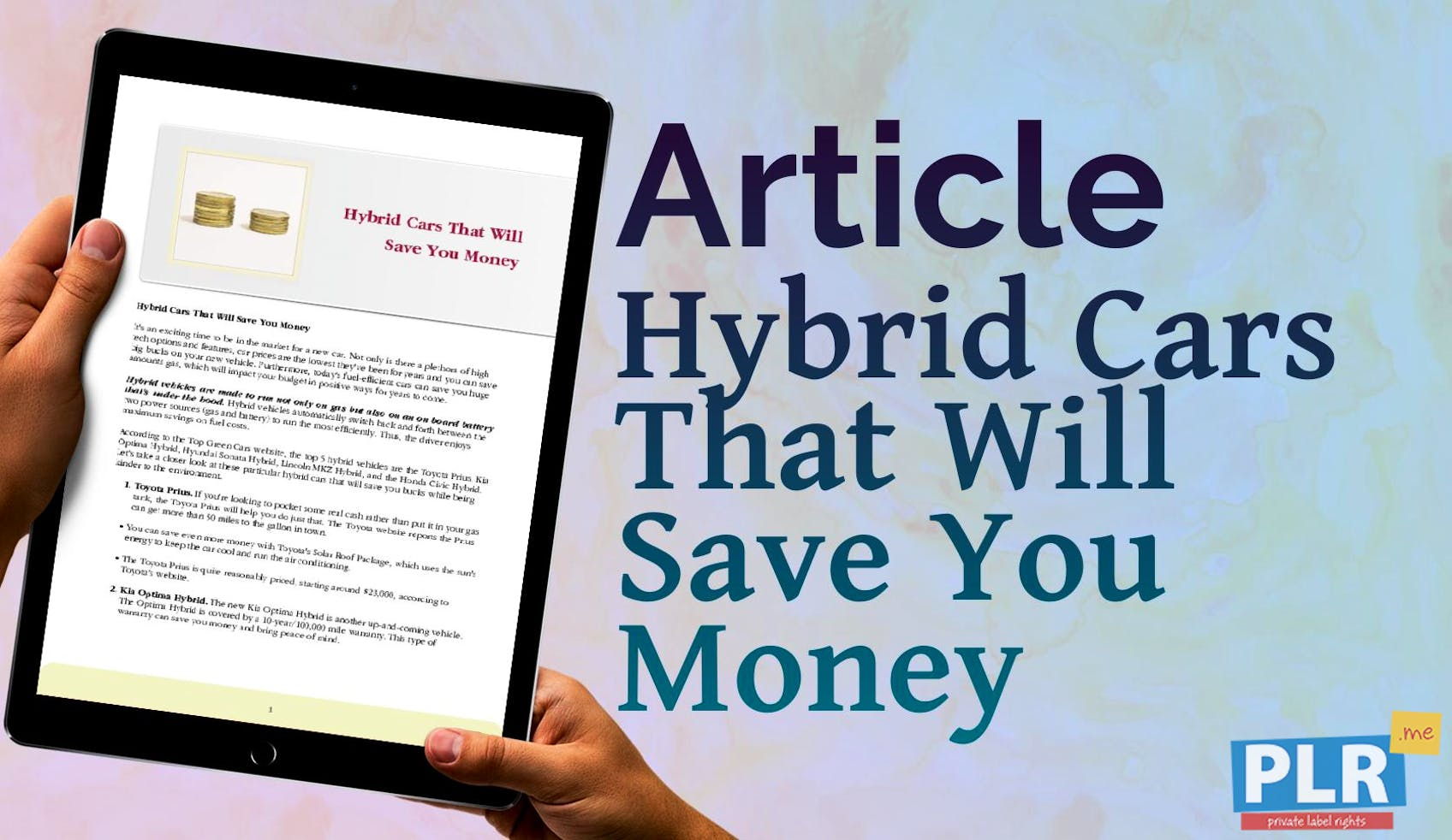 Hybrid Cars That Will Save You Money