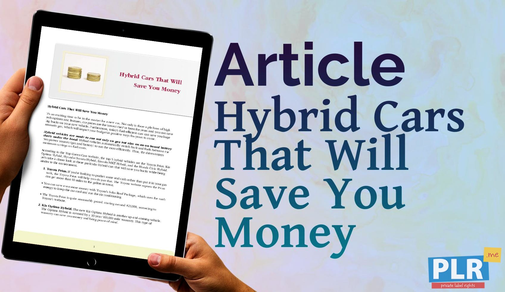 Plr Articles Blog Posts Hybrid Cars That Will Save You Money Me