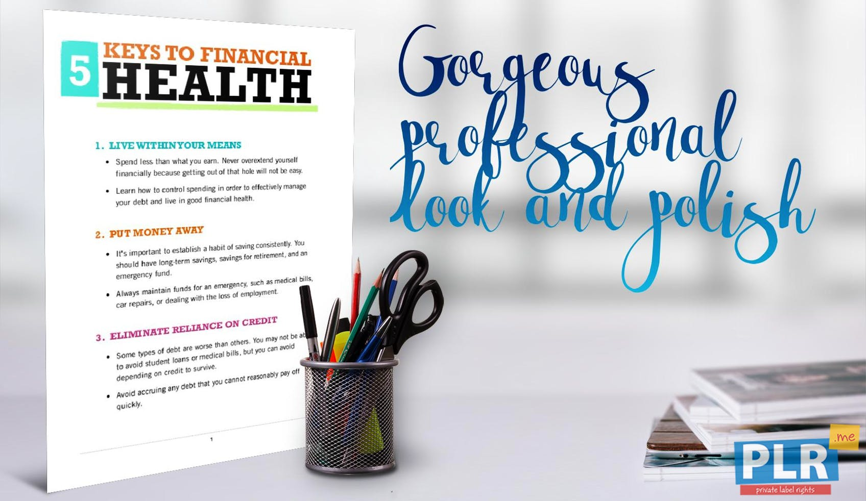 5 Keys To Financial Health
