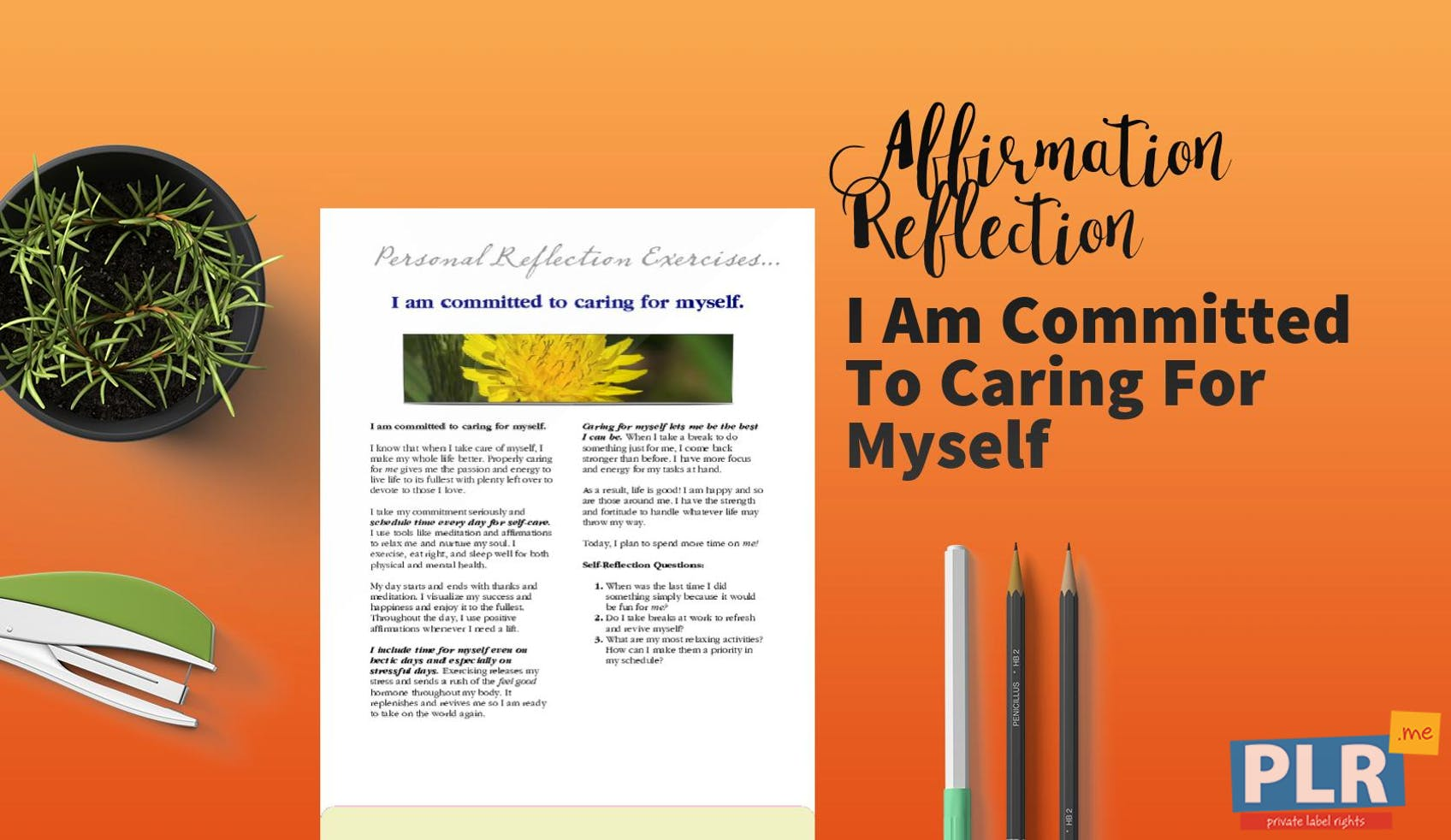 I Am Committed To Caring For Myself