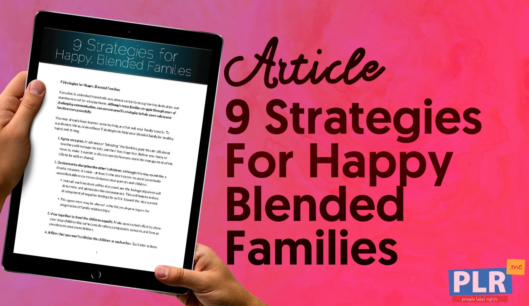 9 Strategies For Happy Blended Families