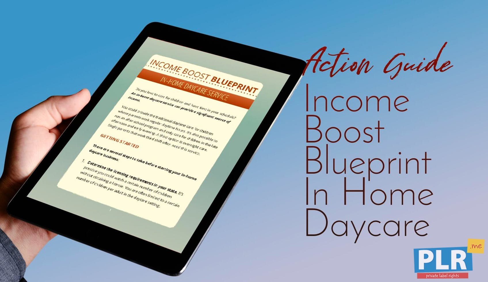 Income Boost Blueprint In Home Daycare