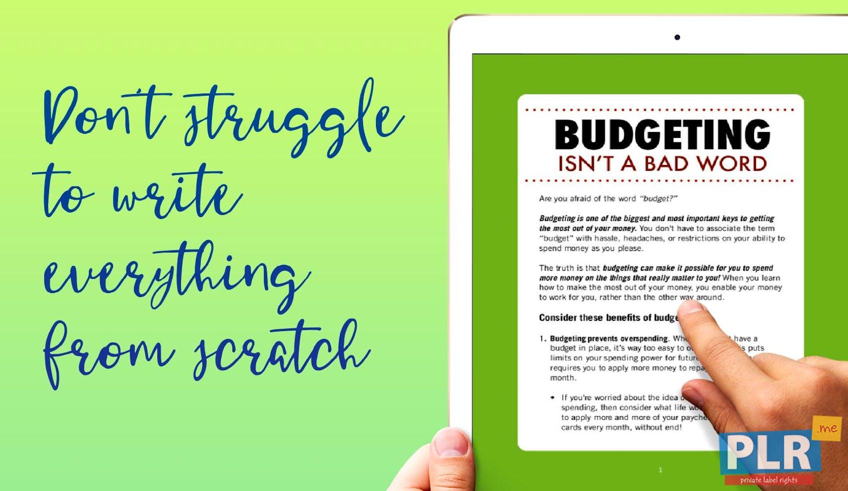 Budgeting Isnt A Bad Word