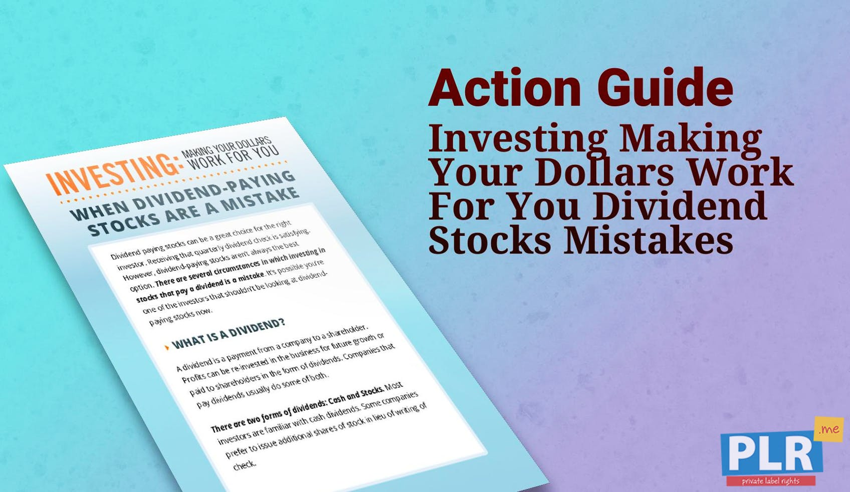 Investing Making Your Dollars Work For You Dividend Stocks Mistakes