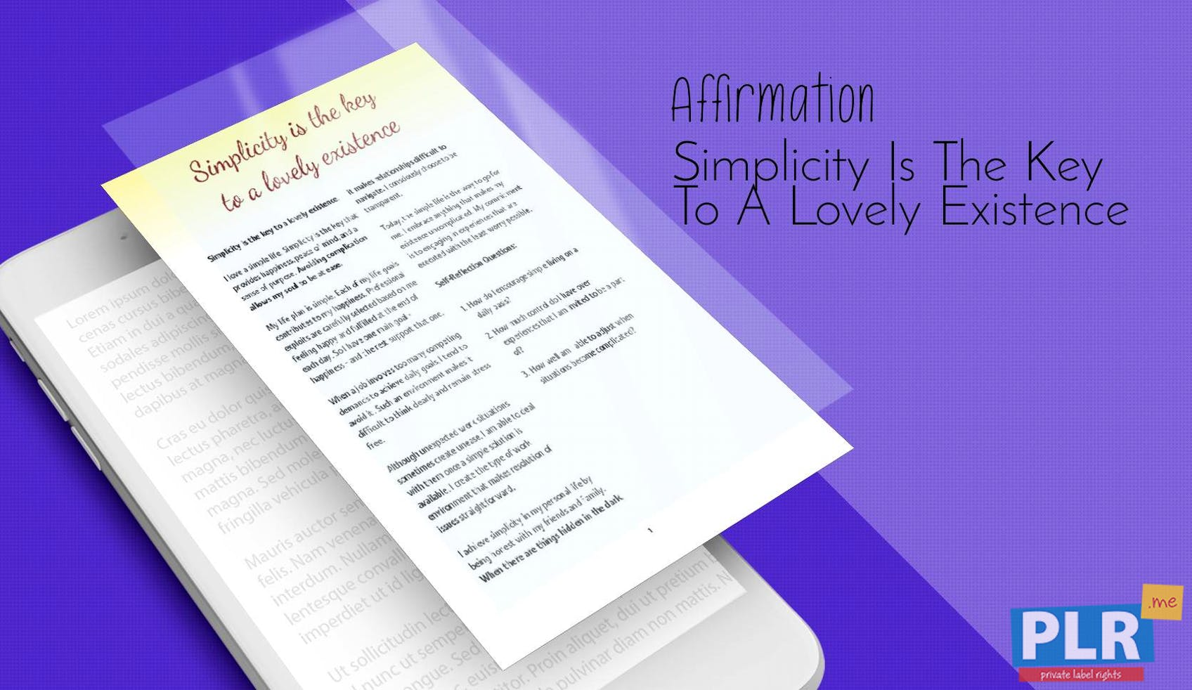 Simplicity Is The Key To A Lovely Existence