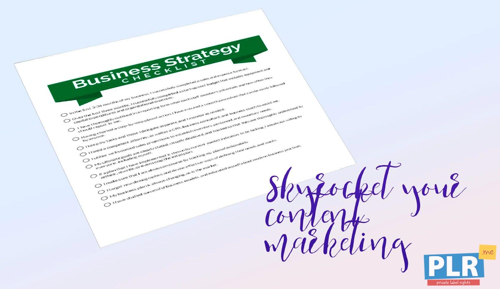 plr checklists business strategy checklist plr me