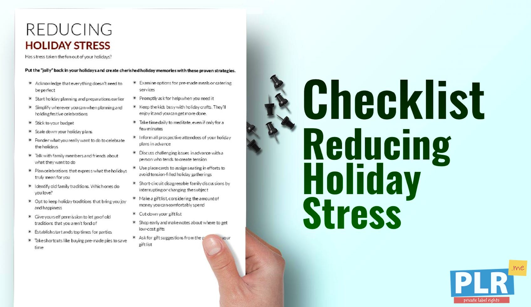 Reducing Holiday Stress
