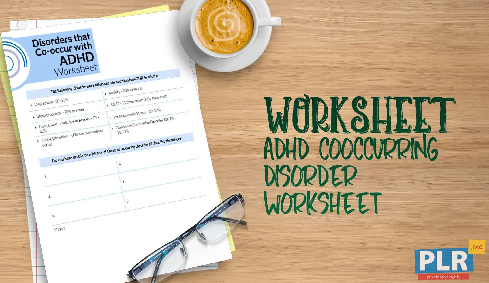 ADHD Cooccurring Disorder Worksheet