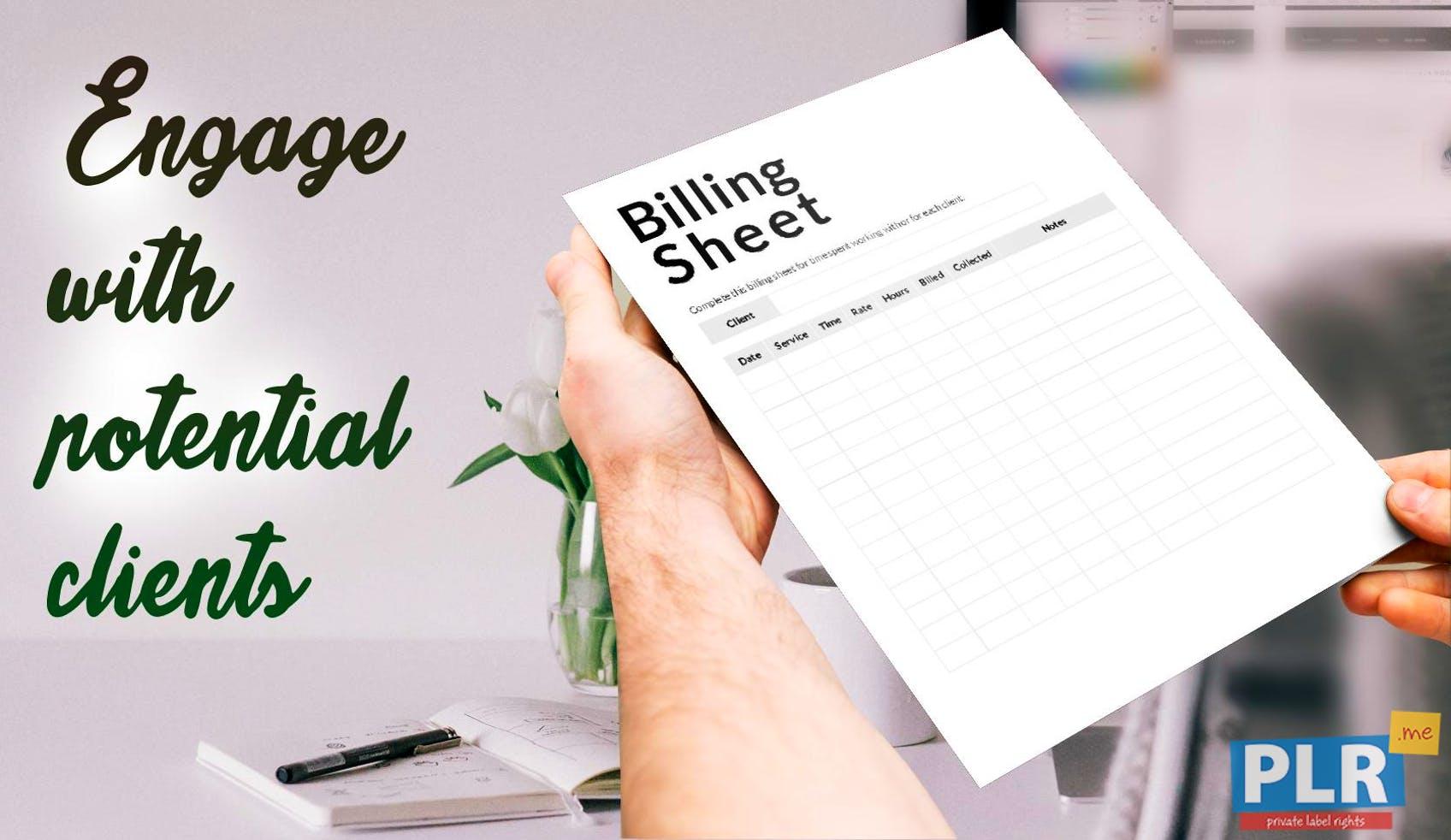 plr administrative forms forms billing sheet plr me