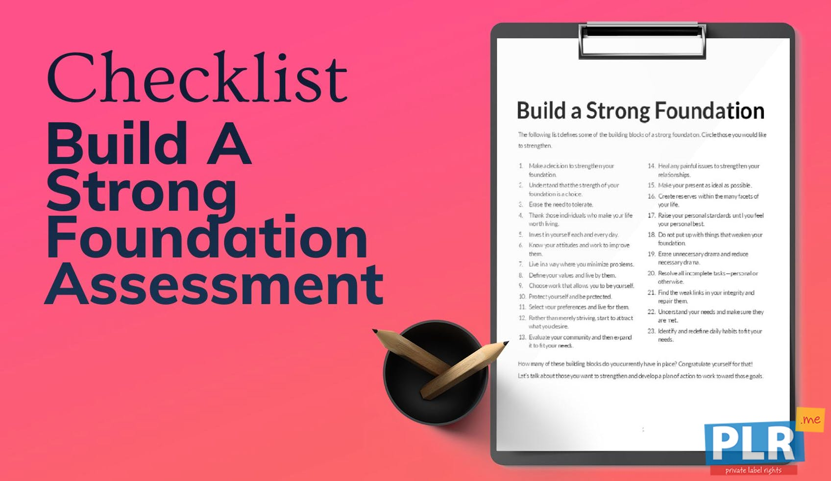 Build A Strong Foundation Assessment