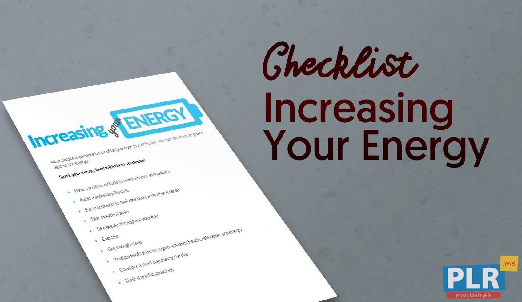 Increasing Your Energy