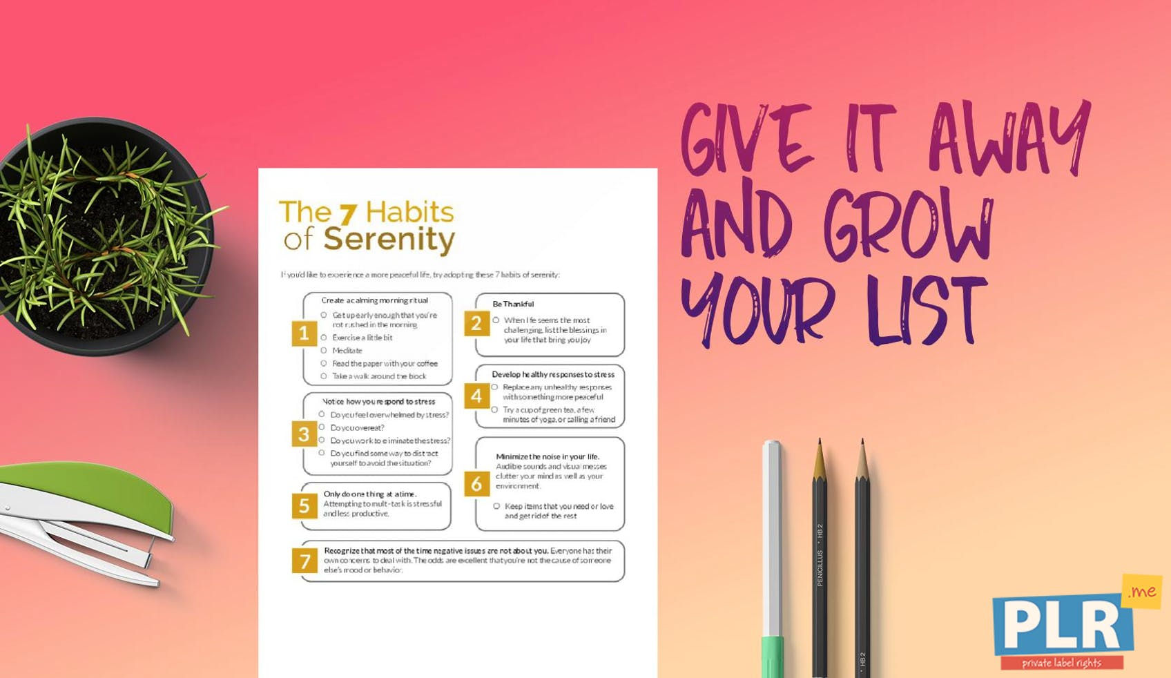 The 7 Habits Of Serenity
