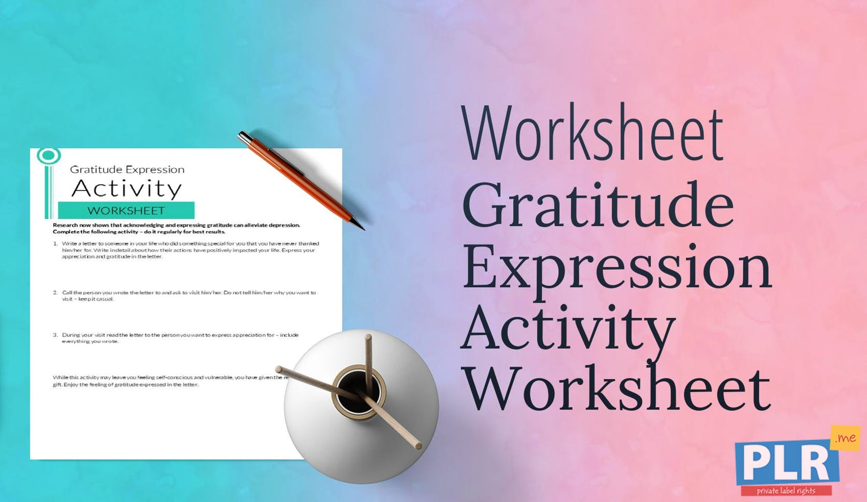 Plr Worksheets Gratitude Expression Activity Worksheet Plr