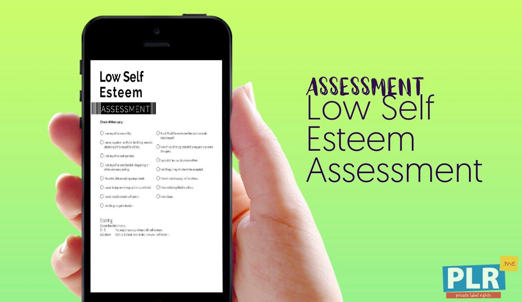 Low Self Esteem Assessment