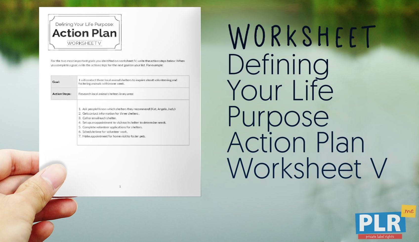 5 Year Life Plan Worksheet - Kidz Activities