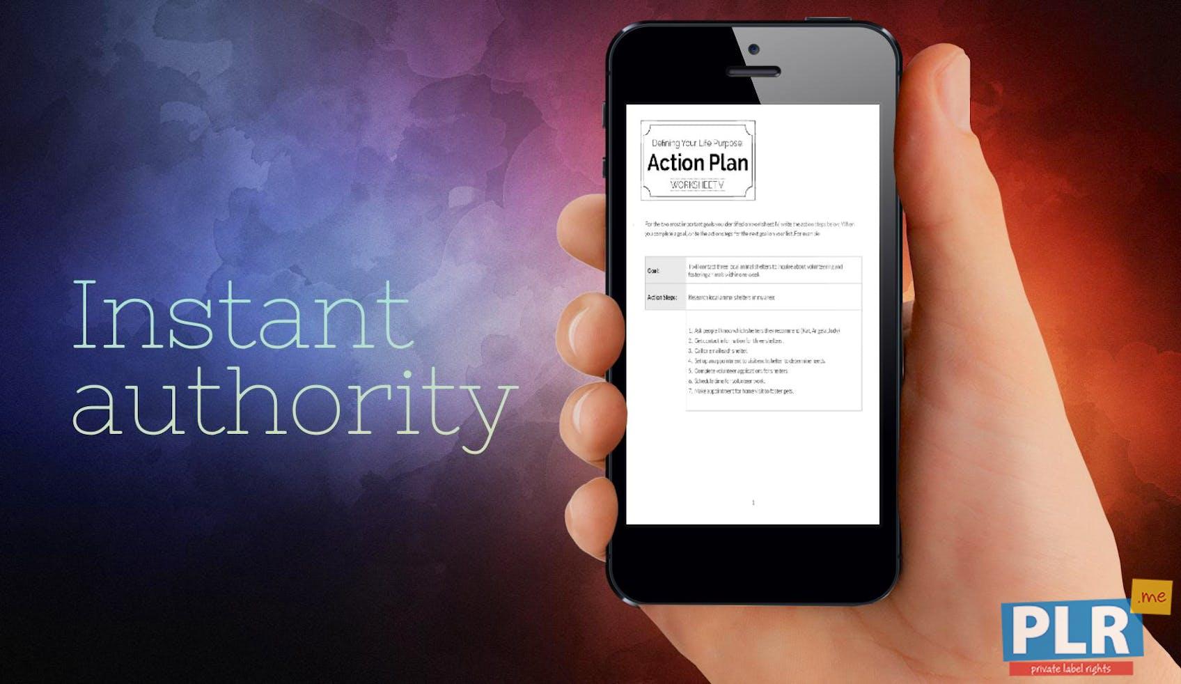 Defining Your Life Purpose Action Plan Worksheet V