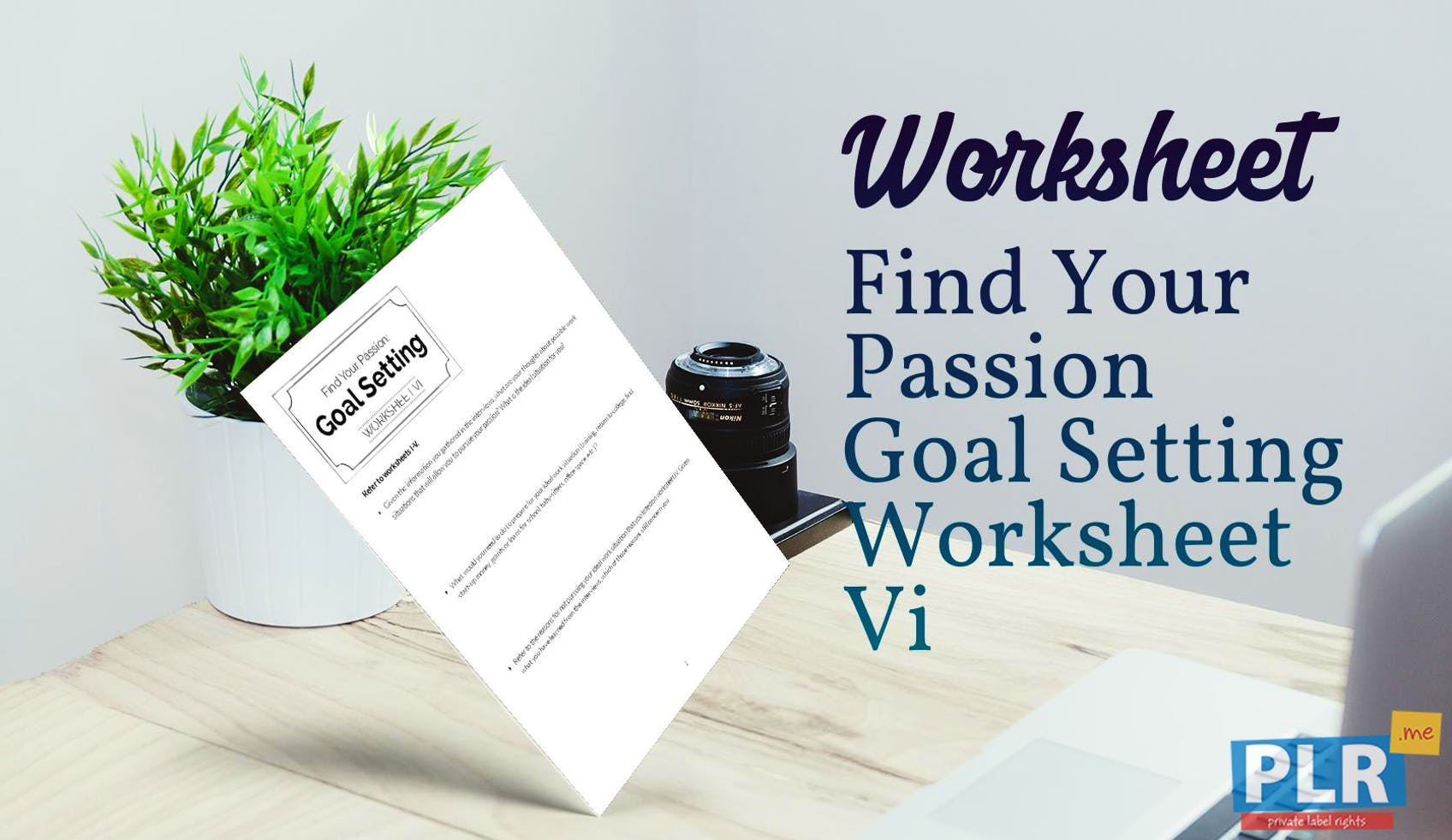 Find Your Passion Goal Setting Worksheet Vi