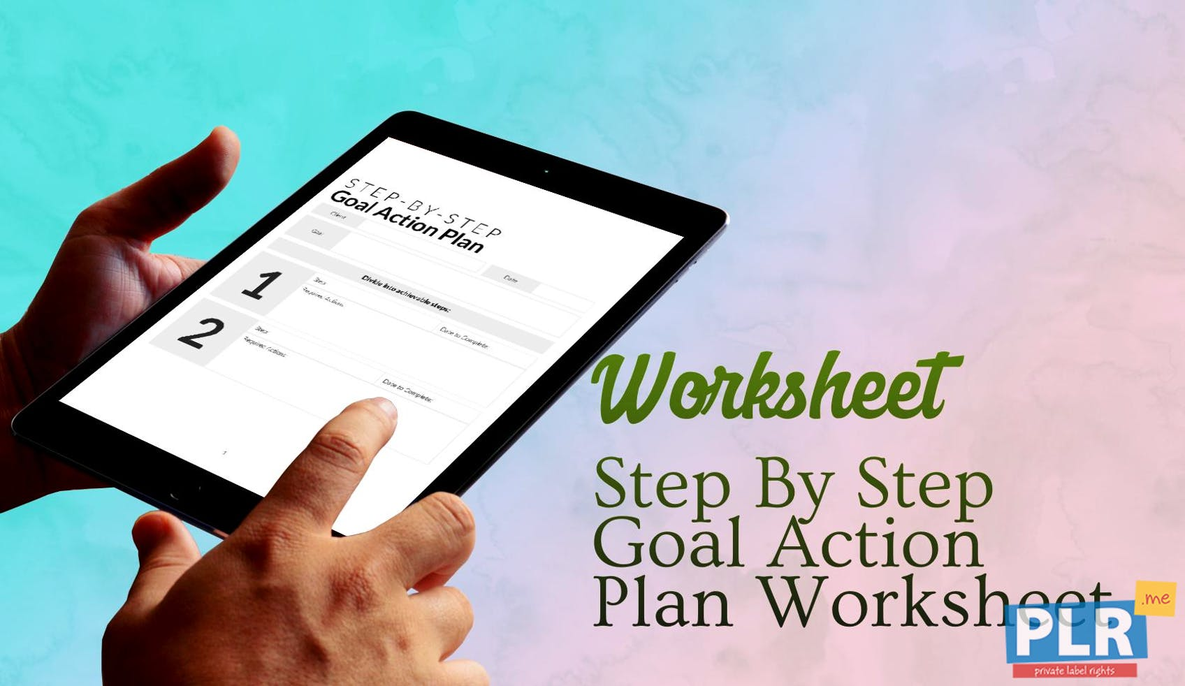 Step By Step Goal Action Plan Worksheet