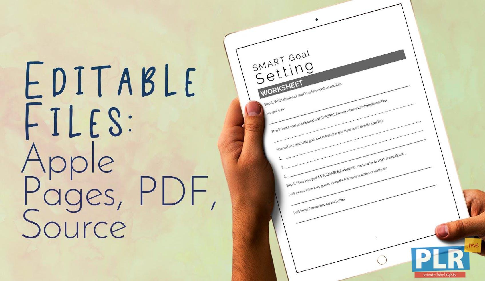 PLR Worksheets - Smart Goal Setting Worksheet - PLR.me