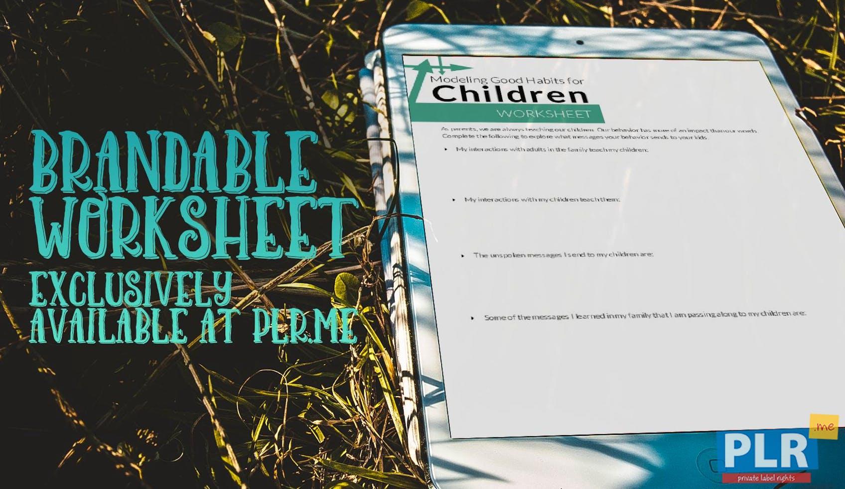 Modeling Good Habits For Children Worksheet
