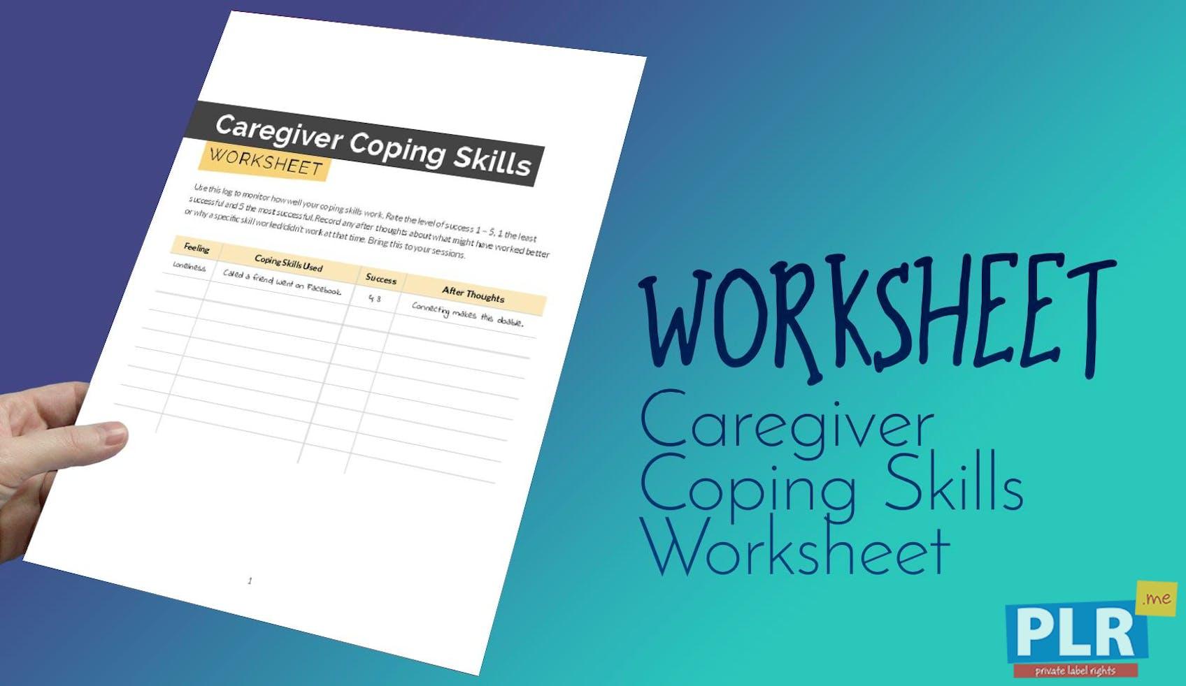 Caregiver Coping Skills Worksheet