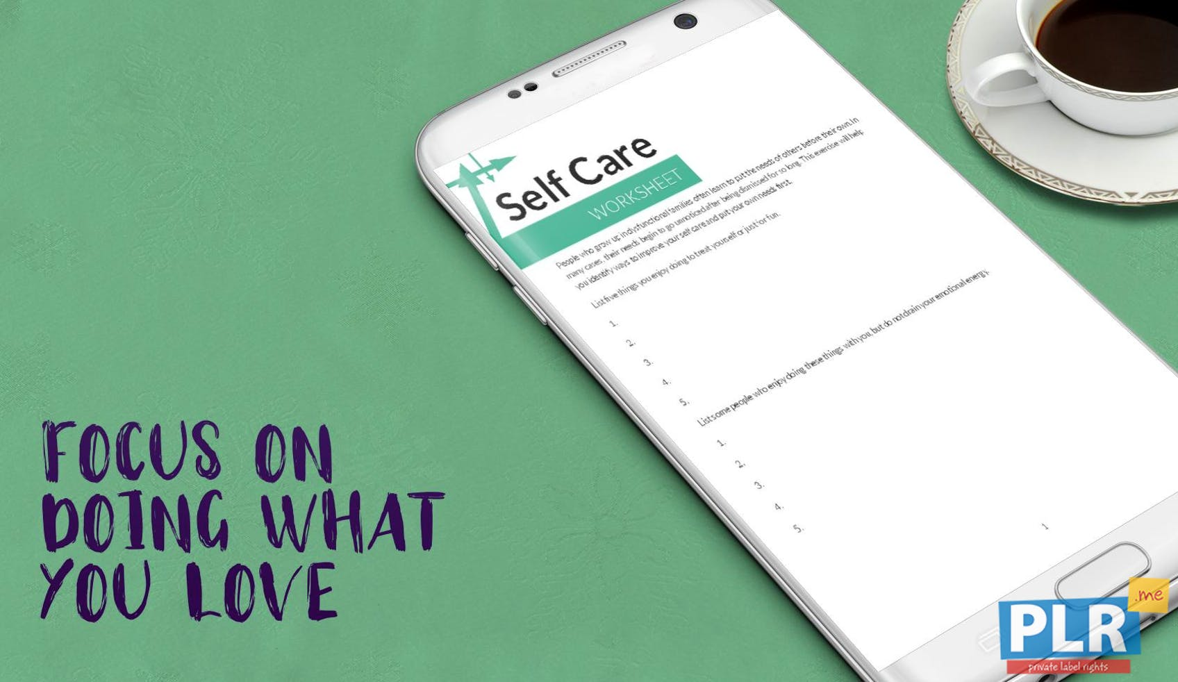 Self Care Worksheet