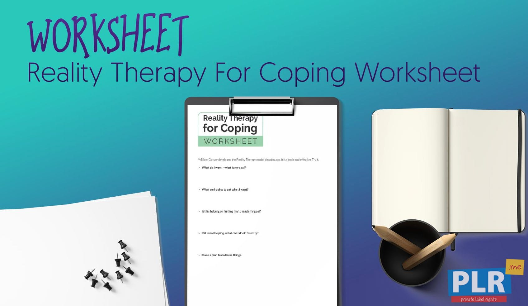 Plr Worksheets Reality Therapy For Coping Worksheet Plr Me