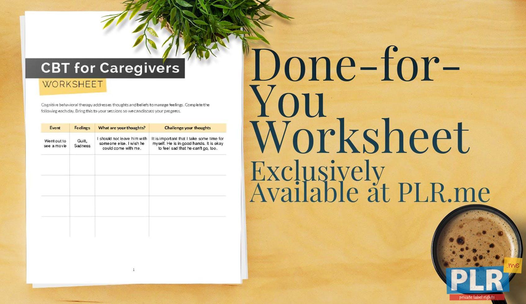 Cbt For Caregivers Worksheet