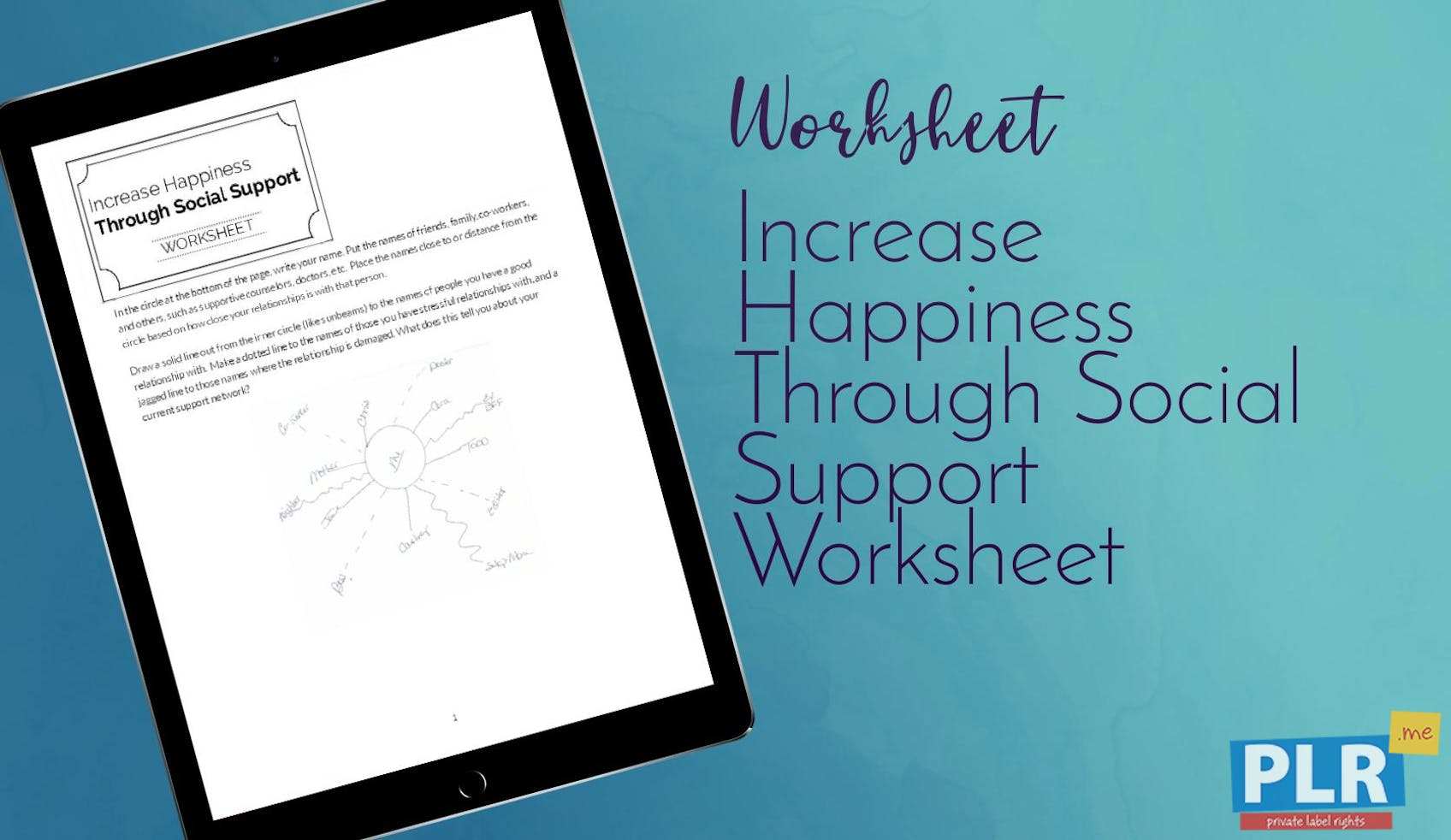 Increase Happiness Through Social Support Worksheet