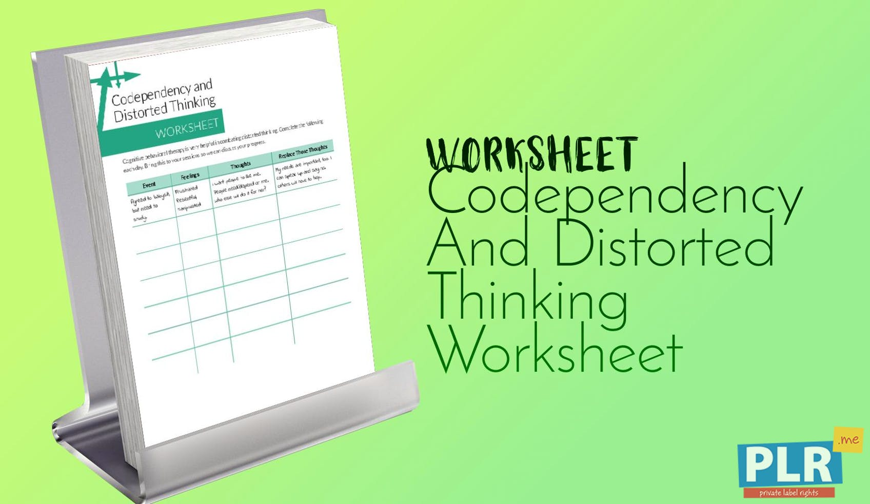 Codependency And Distorted Thinking Worksheet
