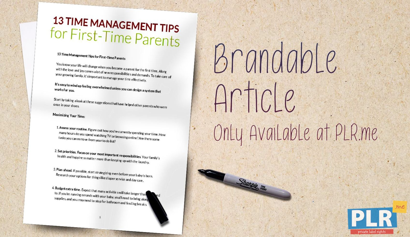 6a8a49fa6cb5 PLR Articles   Blog Posts - 13 Time Management Tips For First Time ...