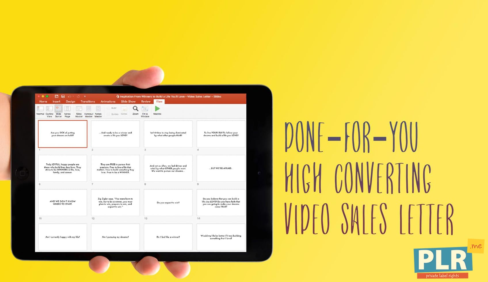 Plr Video Sales Letter Slides Inspiration From Winners To Build A
