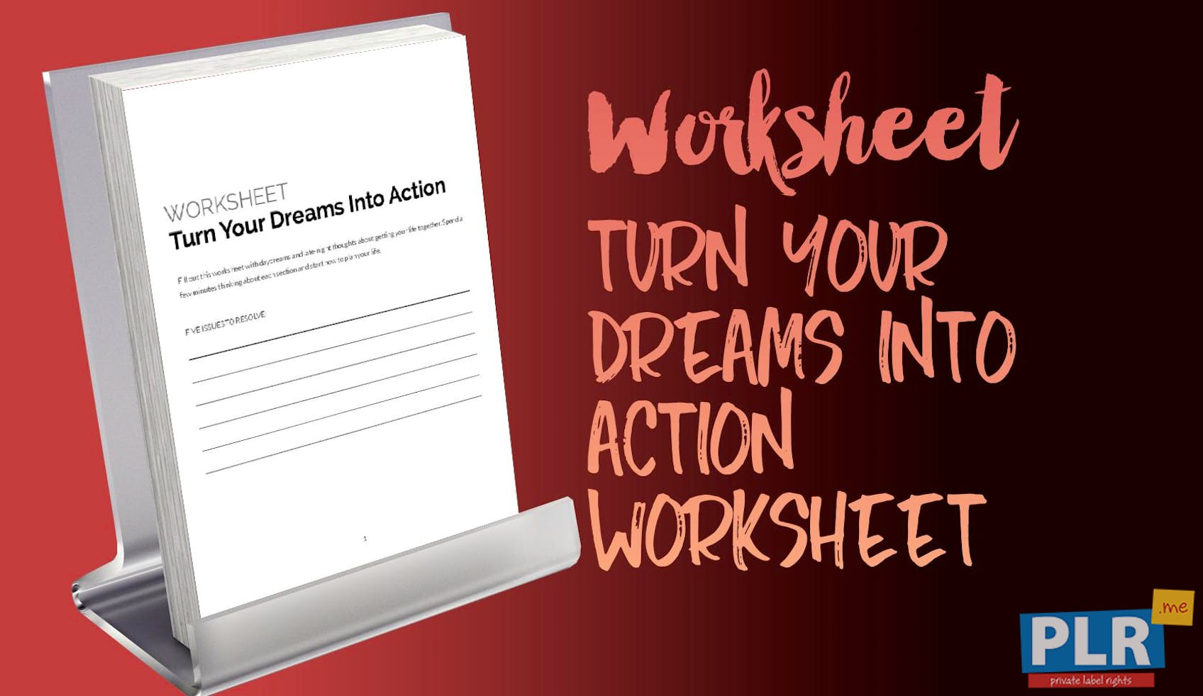 Turn Your Dreams Into Action Worksheet