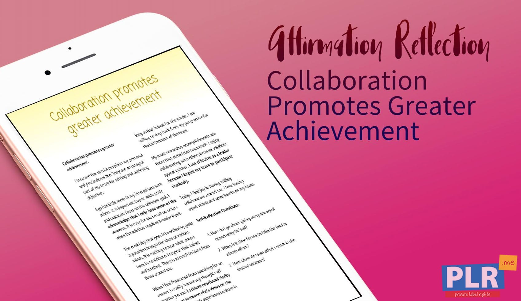 Collaboration Promotes Greater Achievement