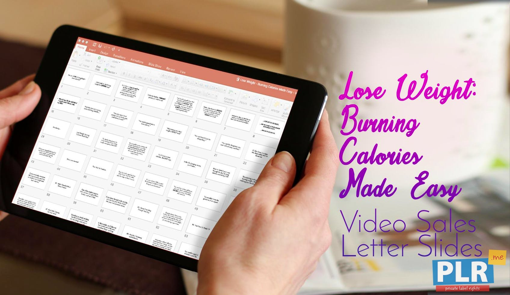 Lose Weight: Burning Calories Made Easy - Video Sales Letter Slides