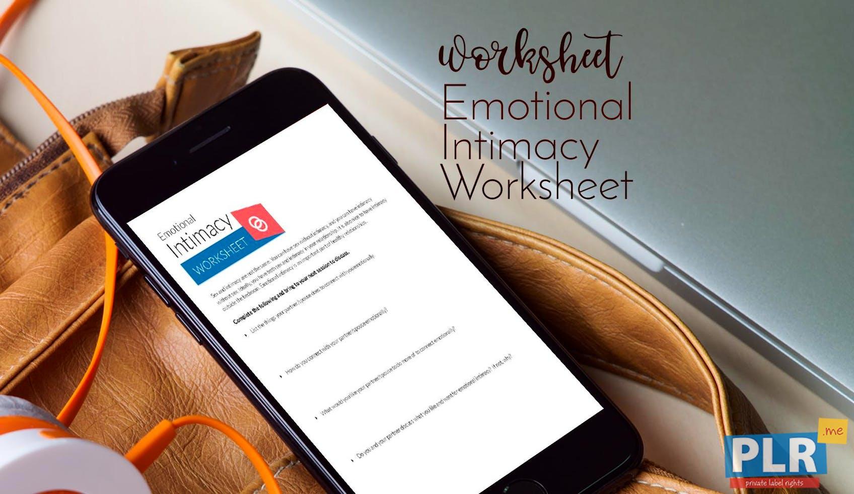 Emotional Intimacy Worksheet
