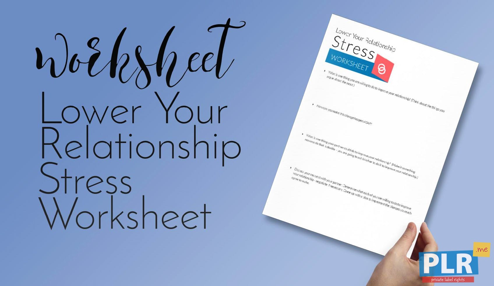 Lower Your Relationship Stress Worksheet