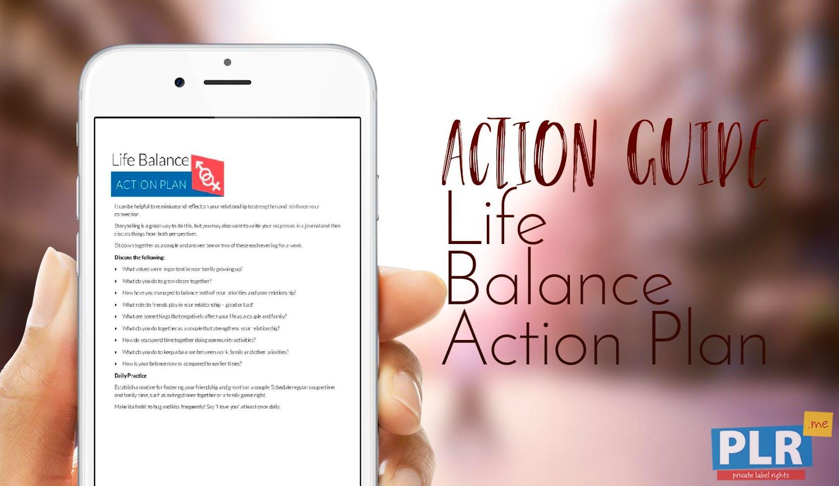 Life Balance Action Plan