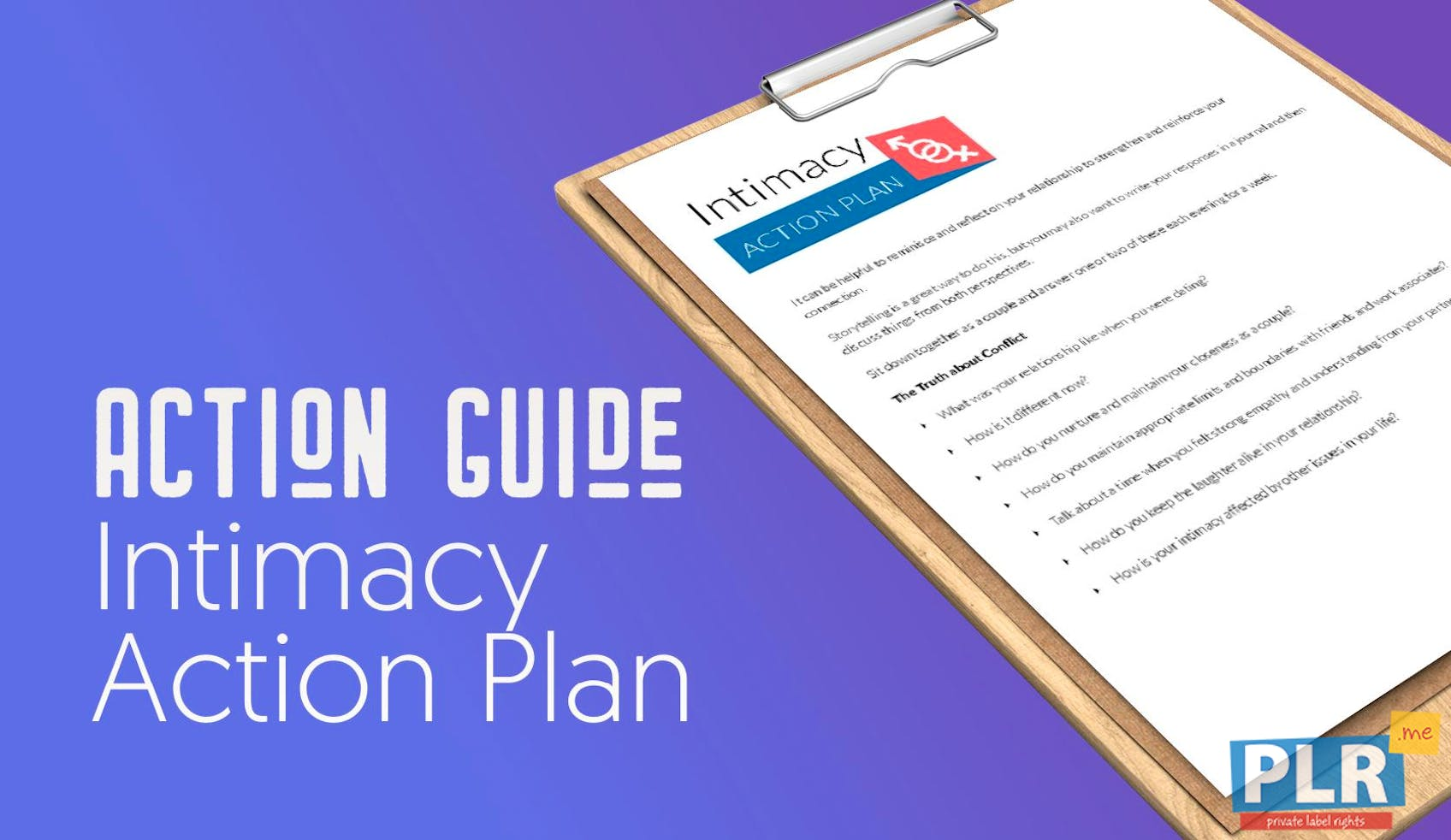 Intimacy Action Plan