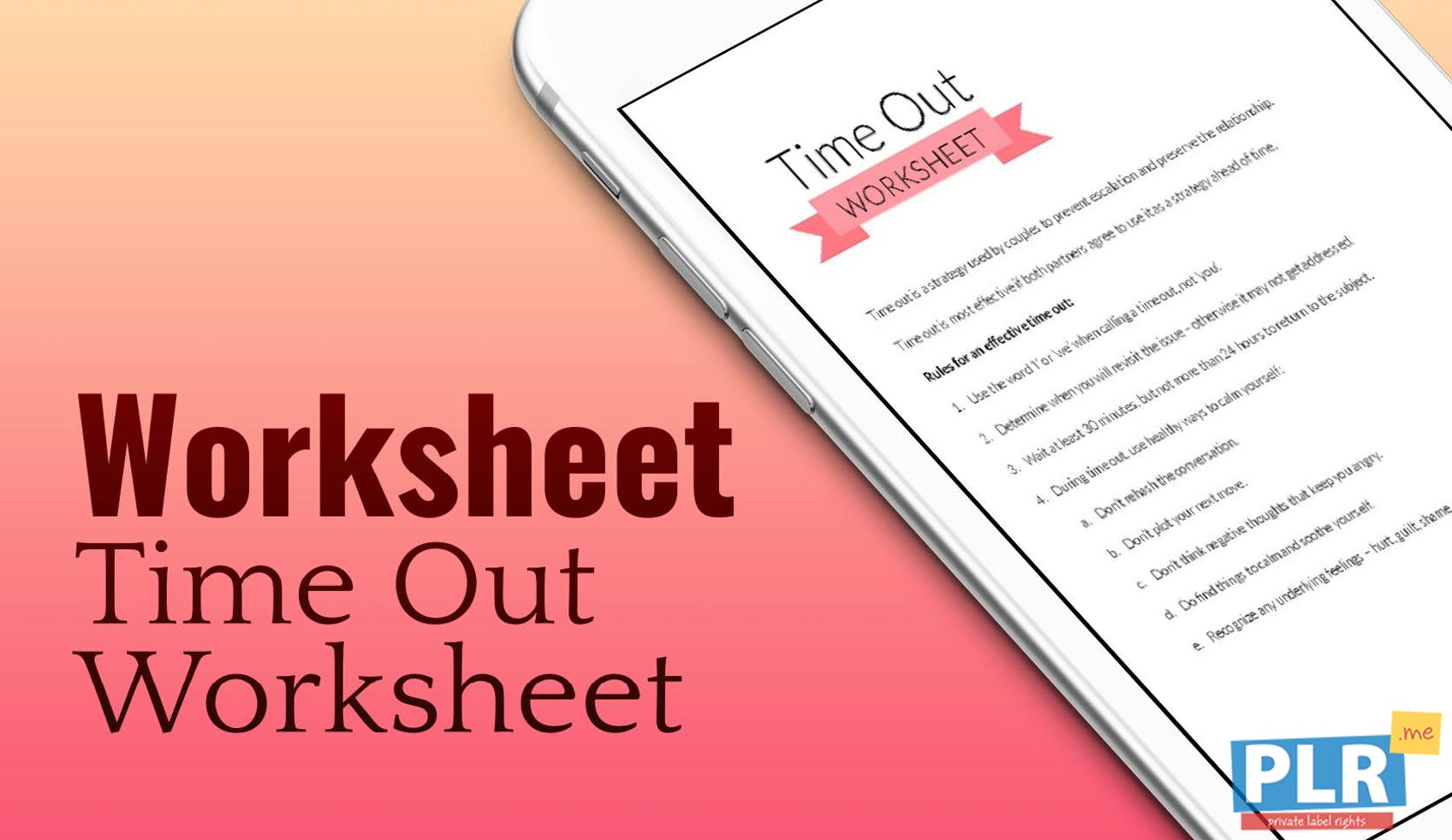 Time Out Worksheet