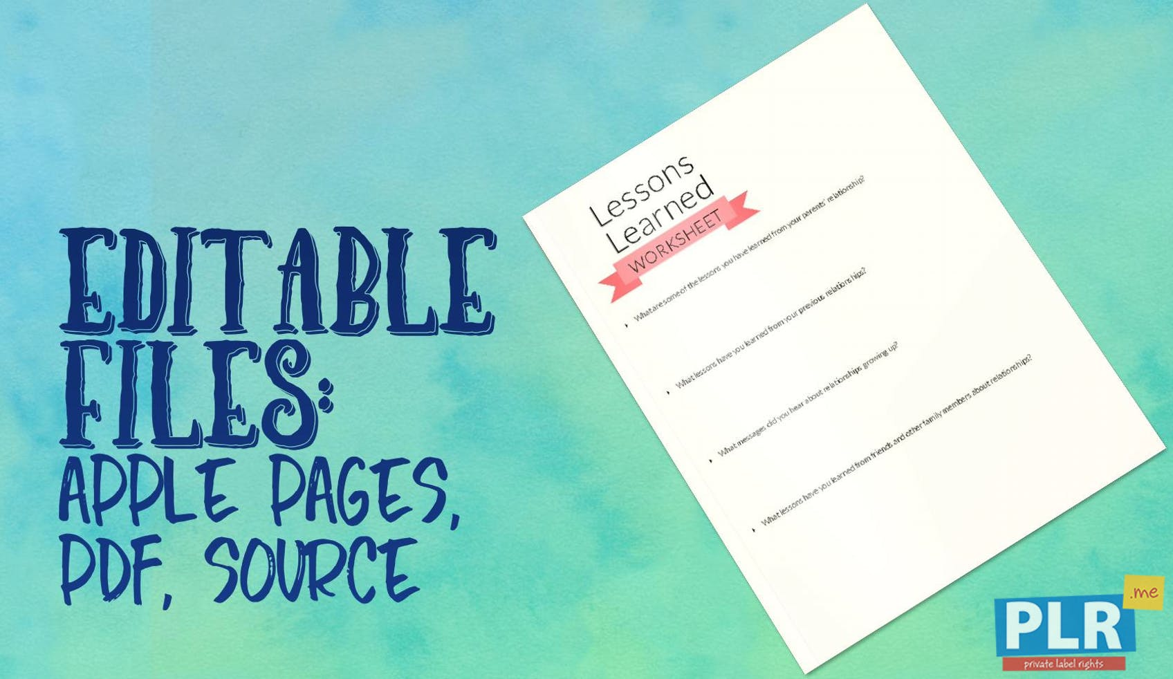 Lessons Learned Worksheet