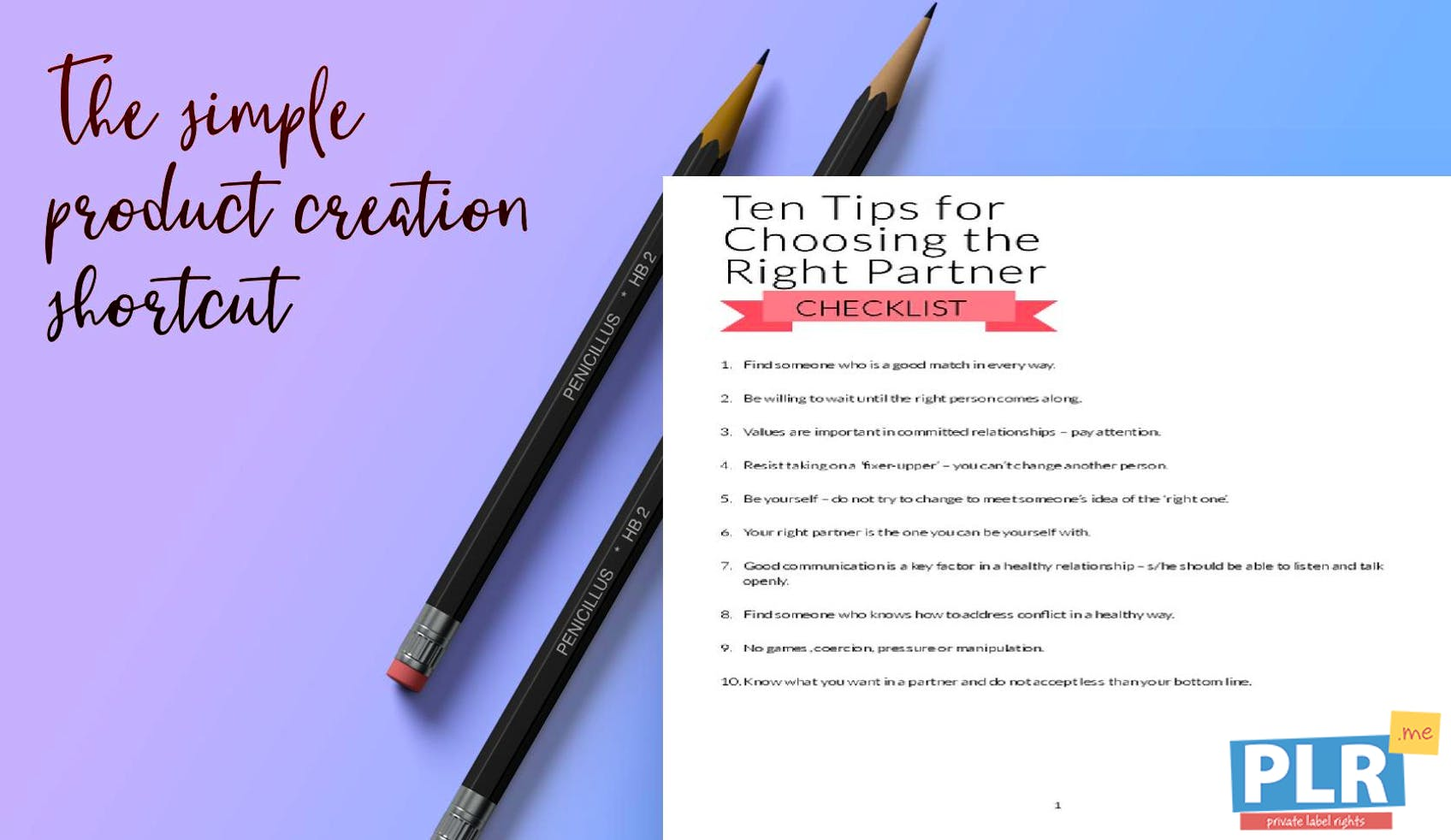 Ten Tips For Choosing The Right Partner Checklist