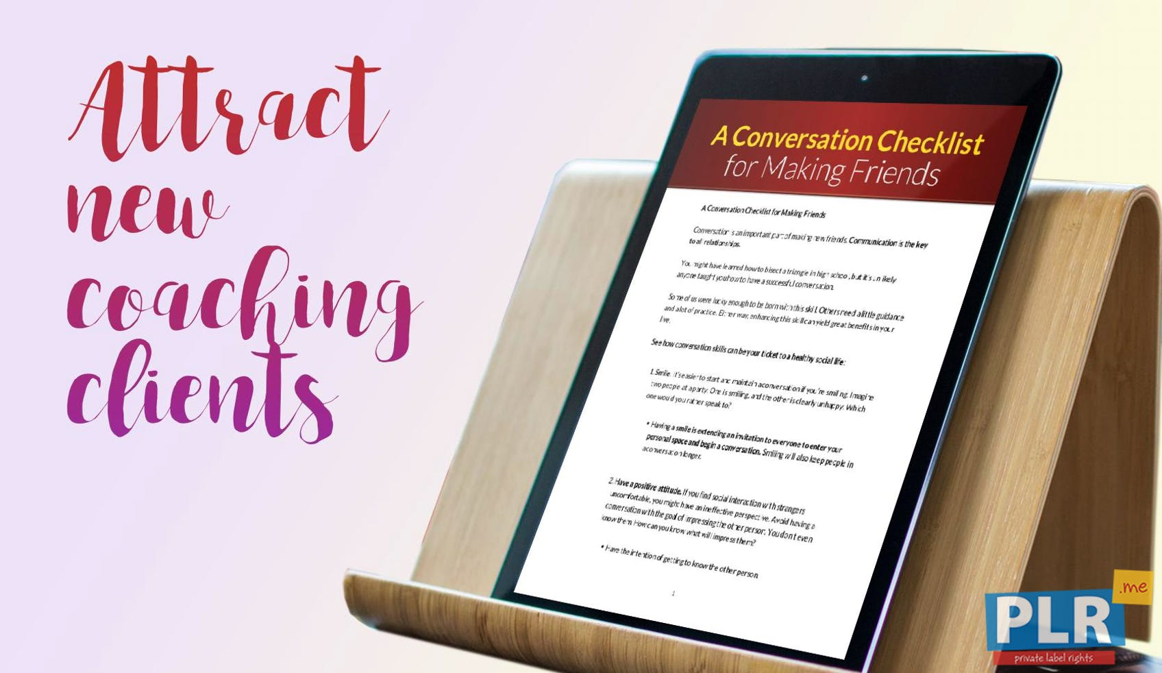 A Conversation Checklist For Making Friends