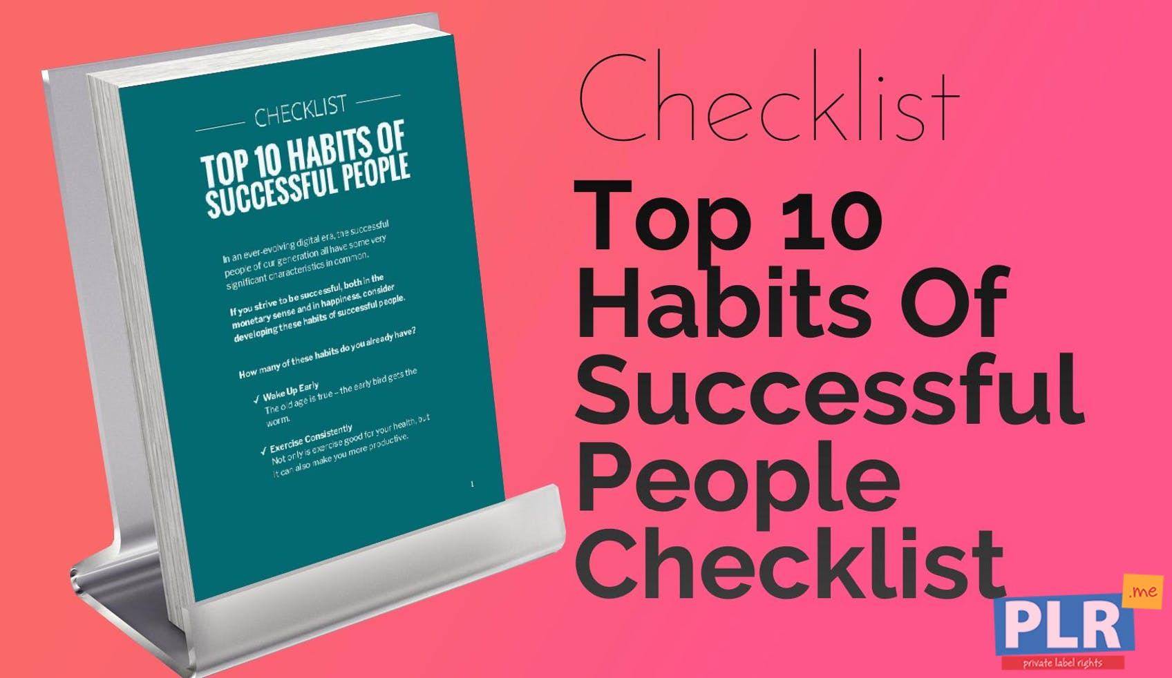 Top 10 Habits Of Successful People Checklist