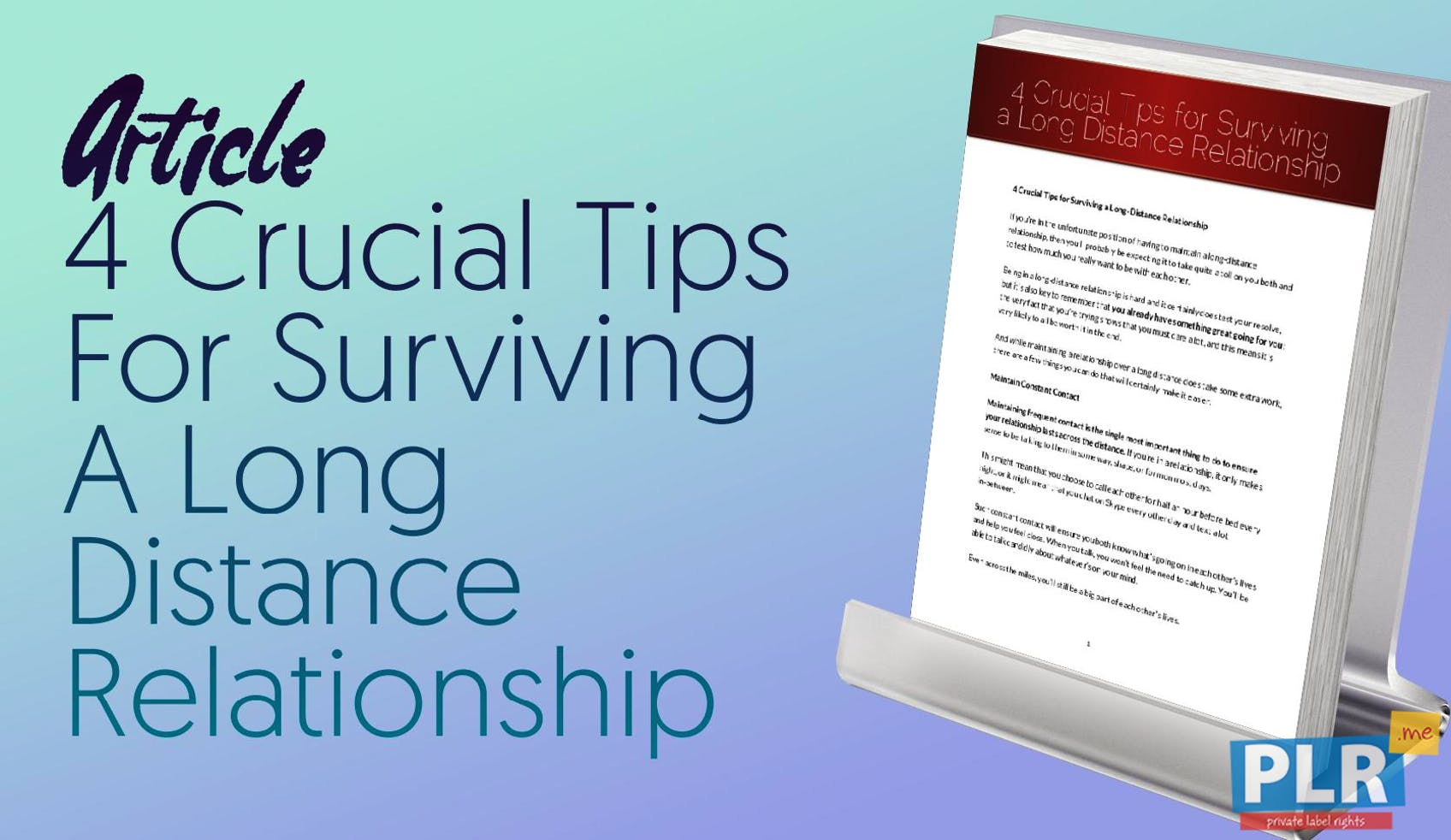 4 Crucial Tips For Surviving A Long Distance Relationship