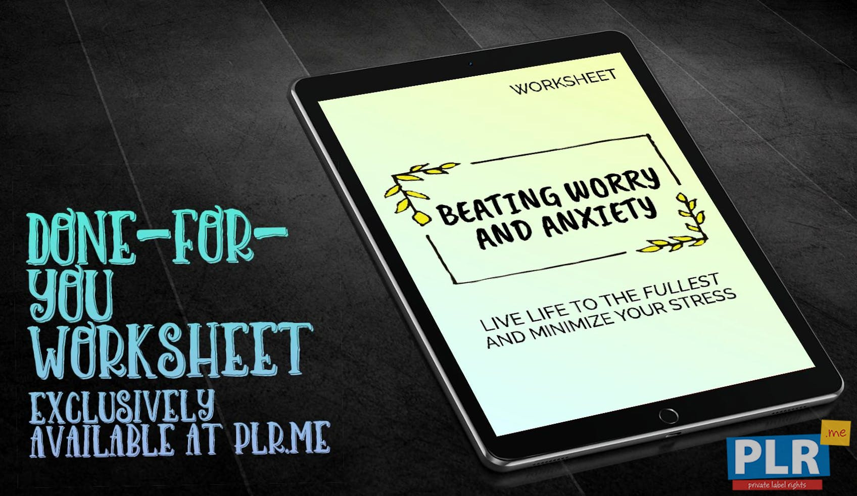 Beating Worry And Anxiety Live Life To The Fullest And Minimize Your Stress Worksheet