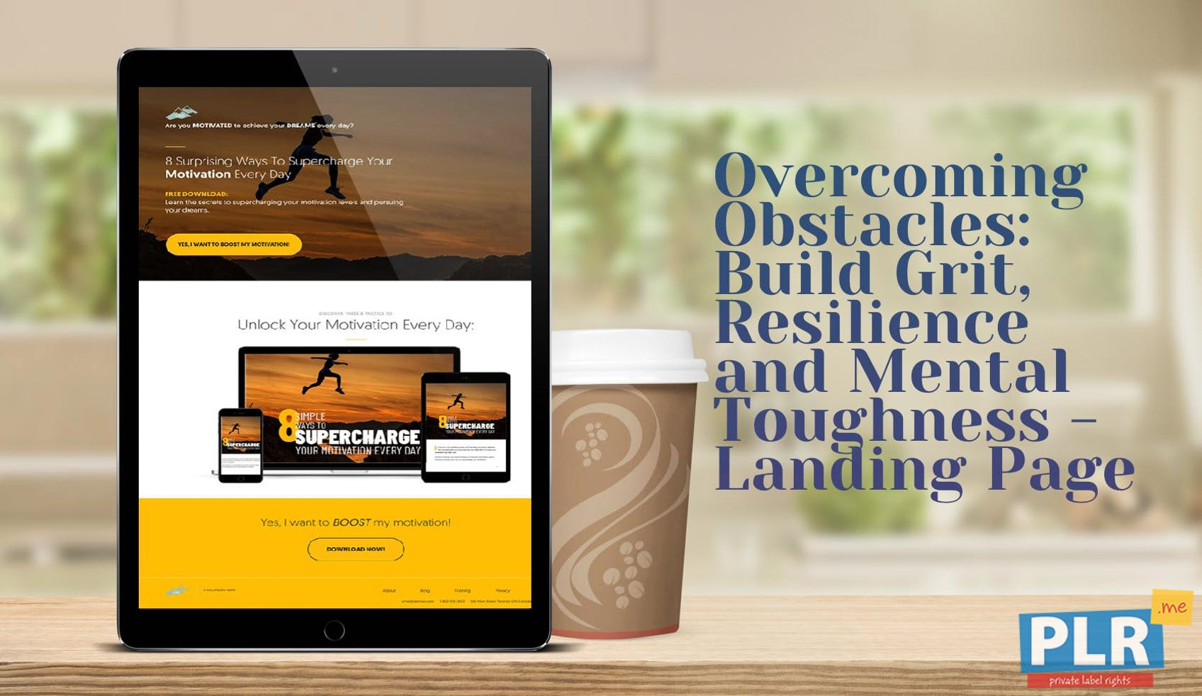 Overcoming Obstacles: Build Grit, Resilience And Mental Toughness - Landing Page